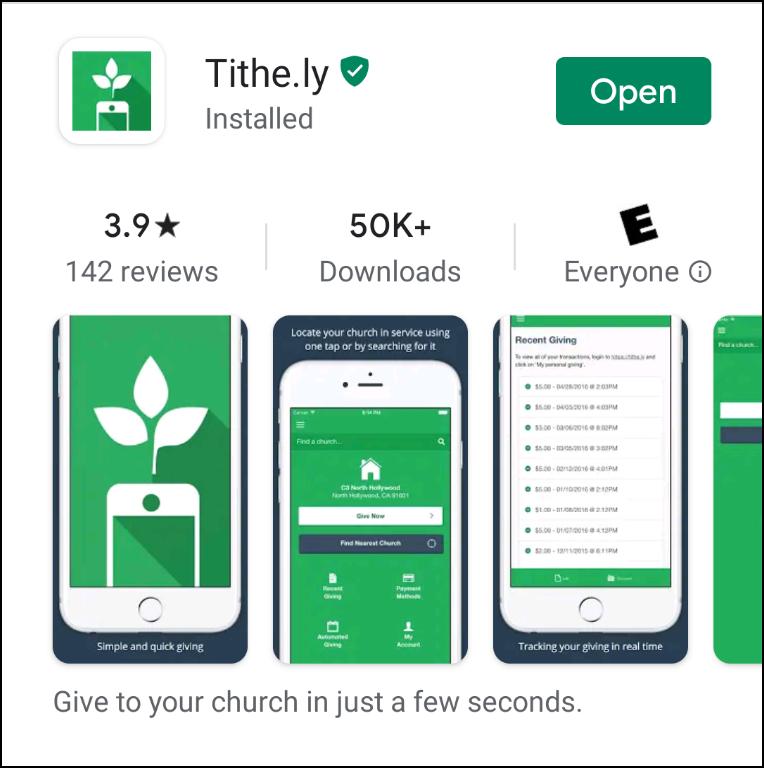 tithe.ly app